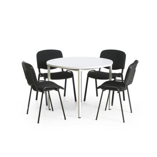 Konferenz Tisch Stuhl Kombination Rund 4 Stühle 37795